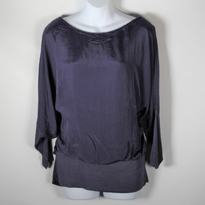 Tops- Italian Silk- Navy