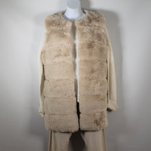 Load image into Gallery viewer, Vest-Faux Fur Long - Beige