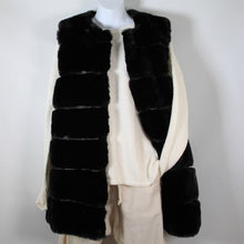 Load image into Gallery viewer, Vest-Faux Fur Long - Black