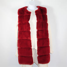 Load image into Gallery viewer, Vest-Faux Fur Long - Red