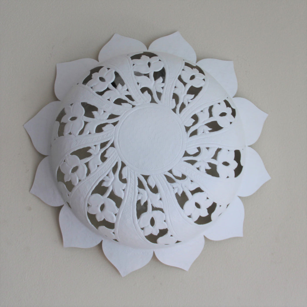 Wall Light - Sun Flower Shape - Matte White