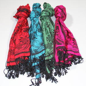 Scarf Pashmina - Red flower