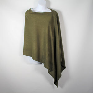 Poncho- Pull Over  -Olive- Silk Route