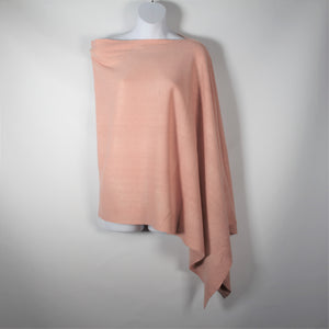 Poncho- Pull Over  -Pale Pink- Silk Route