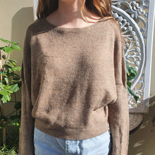 Load image into Gallery viewer, Jumper- Knit Wool Round Neck -Khaki