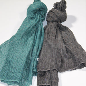 Scarf - Lurex - Sea Green