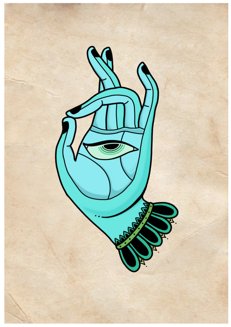 Blue Mudra by Morphic Tattoo