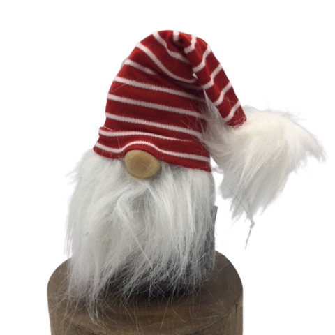 Gnome Santa with Striped Hat