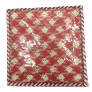 Antique Check Pattern Cocktail Napkins
