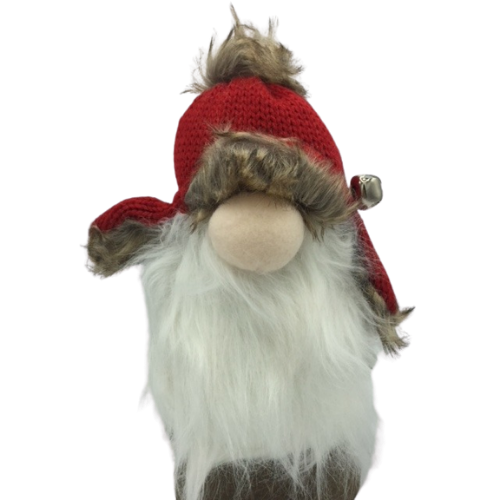 Gnome with Knit Fur Hat with Flaps