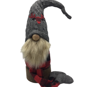 "18"" Gnome with Buffalo Check Deer Hat"