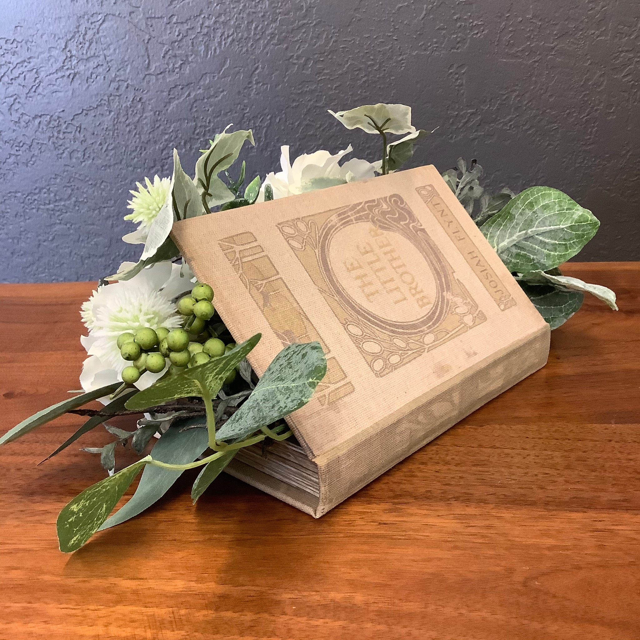 "Arrangement in Faux Book ""The Little Brother"""