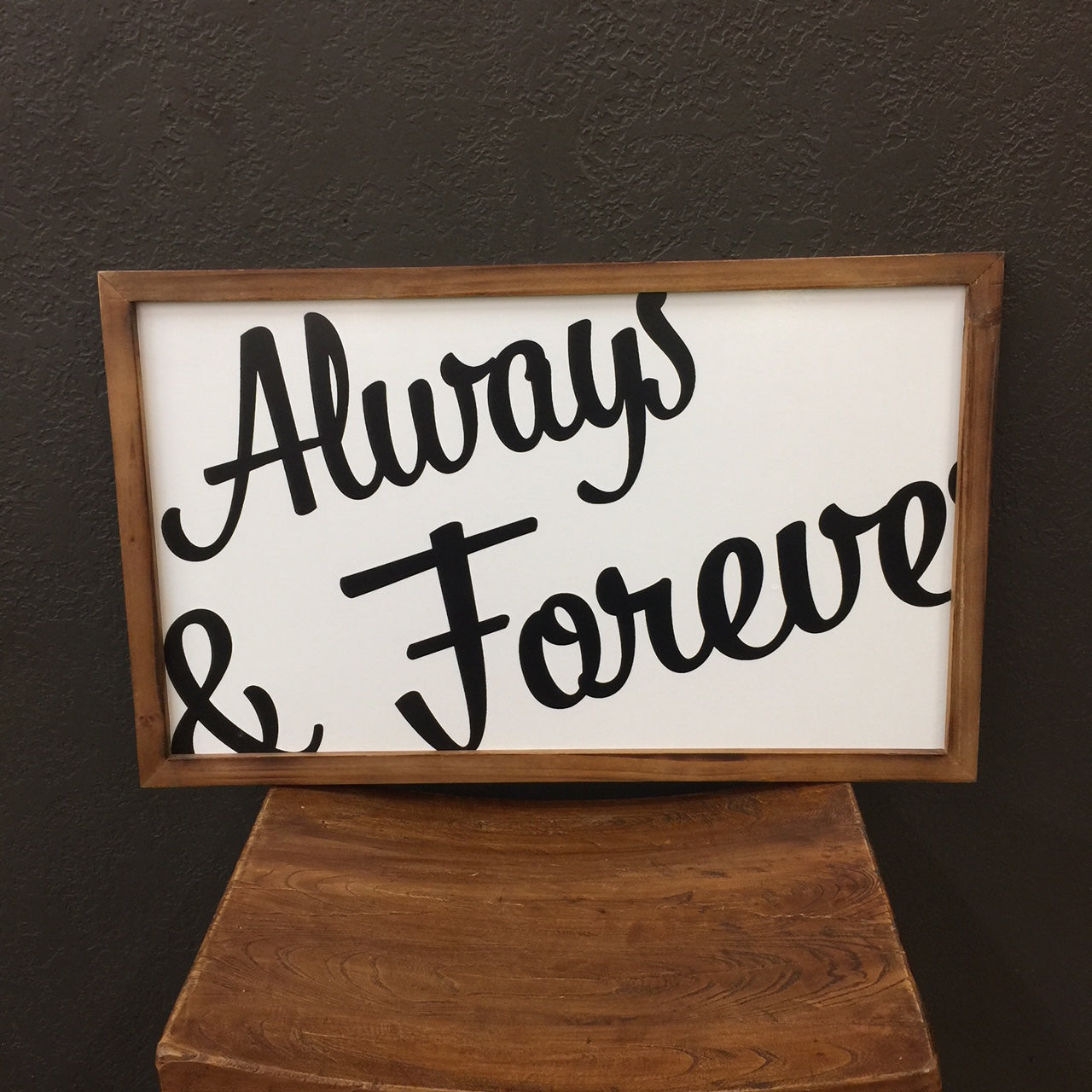 """Always and Forever"" Wall Decor"