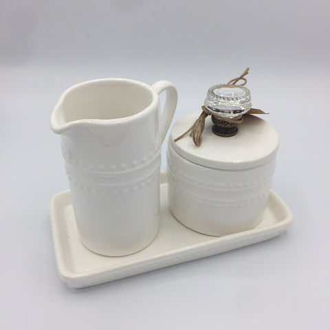 Doorknob Cream and Sugar Set