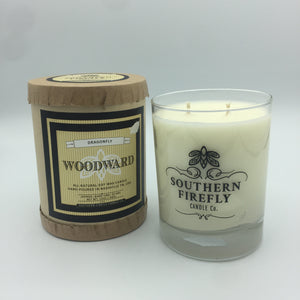 Woodward Candle: Dragonfly Scent (12 oz)
