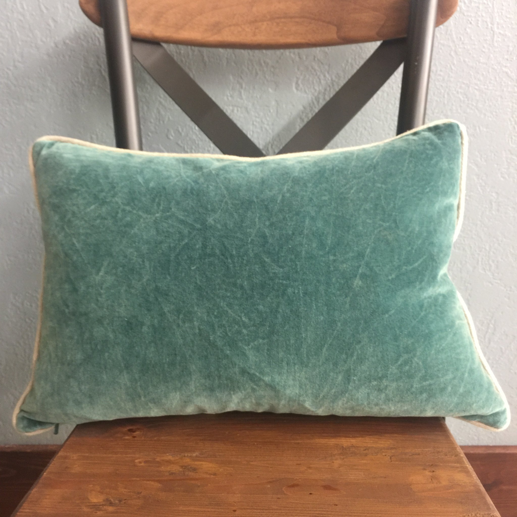 Green Oblong Pillow