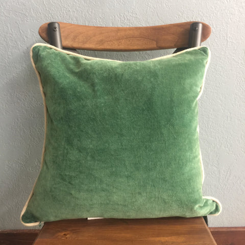 Green Square Pillow
