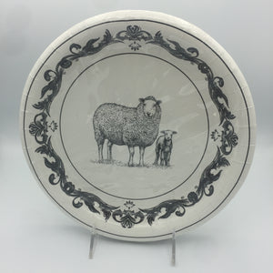 Black & White Sheep Pattern Dinner Plate