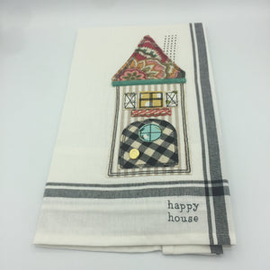 """Happy House"" Kitchen Towel"