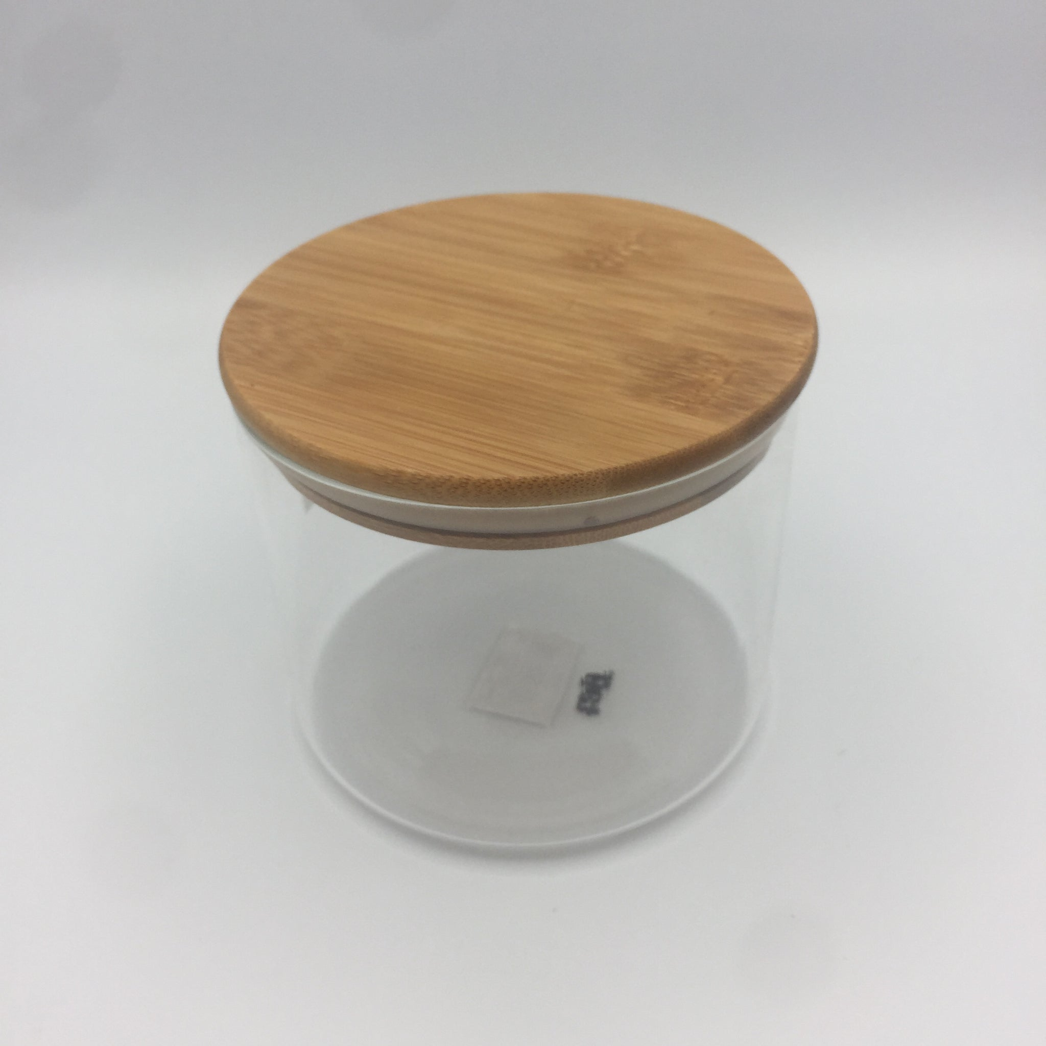 Glass Container with Wood Lid