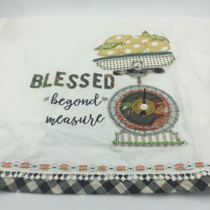 "Tea Towel ""Blessed Beyond Measure"""