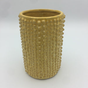 Yellow Textured Floral Vase
