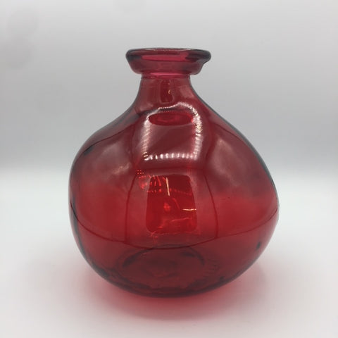 Imperfect Bottleneck Vase - Red