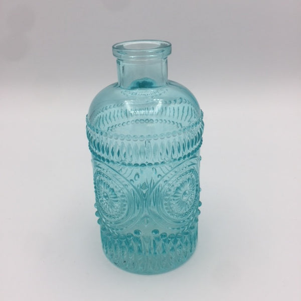 Glass Vase: Red, Green, Pink, Blue