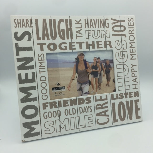 Friends, Moments, Joy 4x6 Frame