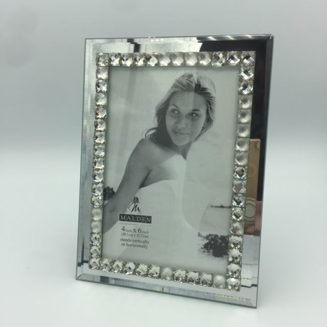Beaded Glass and Mirror Frame