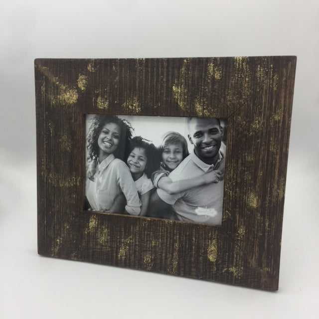 Wood Gold Foil 5x7 Frame