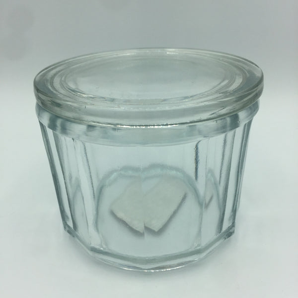 """Salt"" Glass Container with Lid"