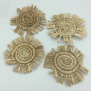 Set of Woven Straw Coasters