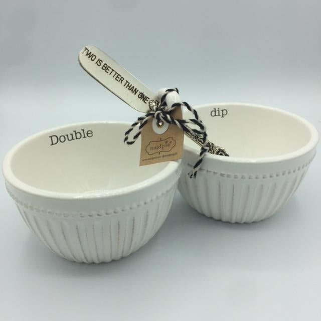 Double Dip Bowl and Spreader Set