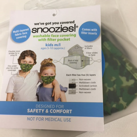 Kids Size Snoozies Face Masks: Patterns