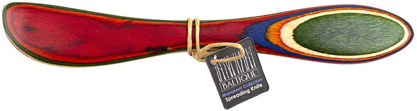 Baltique Marrakesh Collection Cheese Spreader Knife in Colored Birch Wood, MultiColor