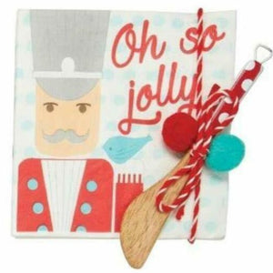 Oh So Jolly Nutcracker Cocktail Napkins with Spreader