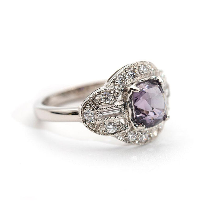 Amina Grey Spinel and Diamond Ring Ring Imperial Jewellery - Auctions, Antique, Vintage & Estate