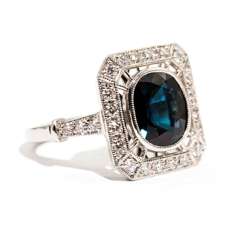Apollo Sapphire & Diamond Ring Ring Imperial Jewellery - Auctions, Antique, Vintage & Estate
