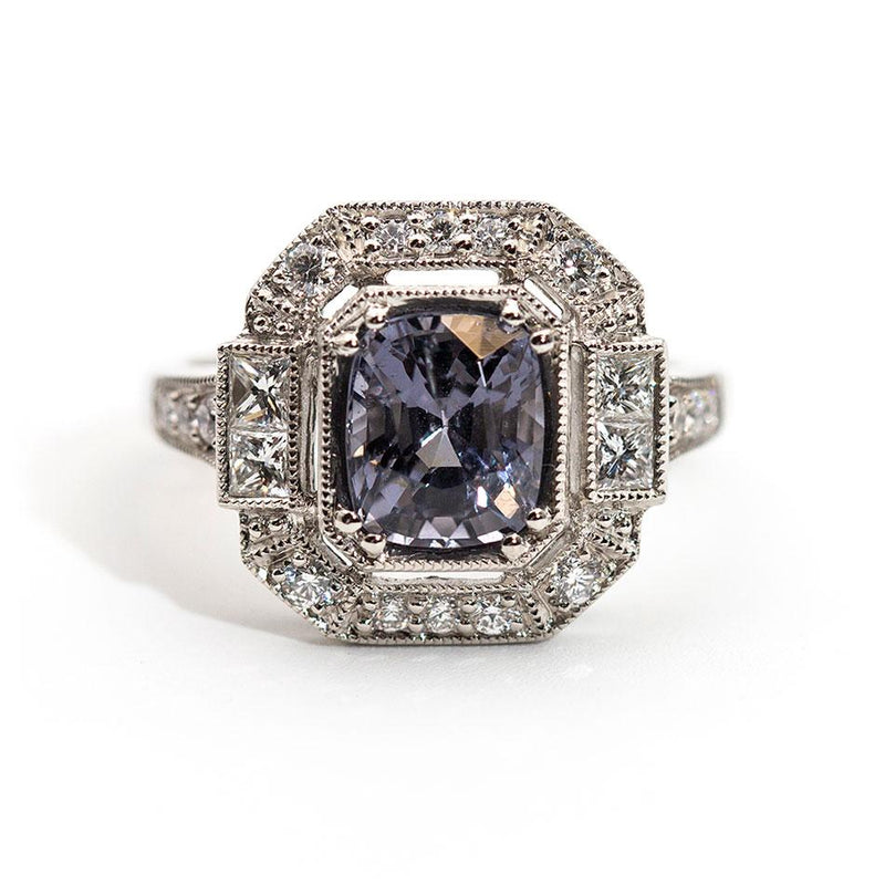 Brooklynn Spinel and Diamond Art Deco Ring Ring Imperial Jewellery - Auctions, Antique, Vintage & Estate
