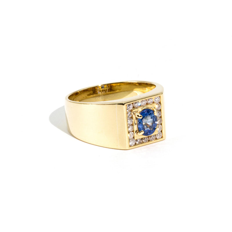 Charlie Sapphire & Diamond Ring Rings Imperial Jewellery - Auctions, Antique, Vintage & Estate