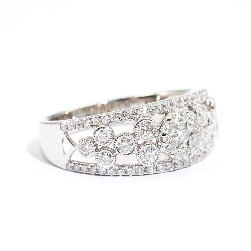 Diamond-Cluster-Band-Carla-IJ-0321-468 Imperial Jewellery - Auctions, Antique, Vintage & Estate
