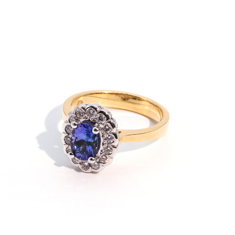 Tanzanite Ring with gold band