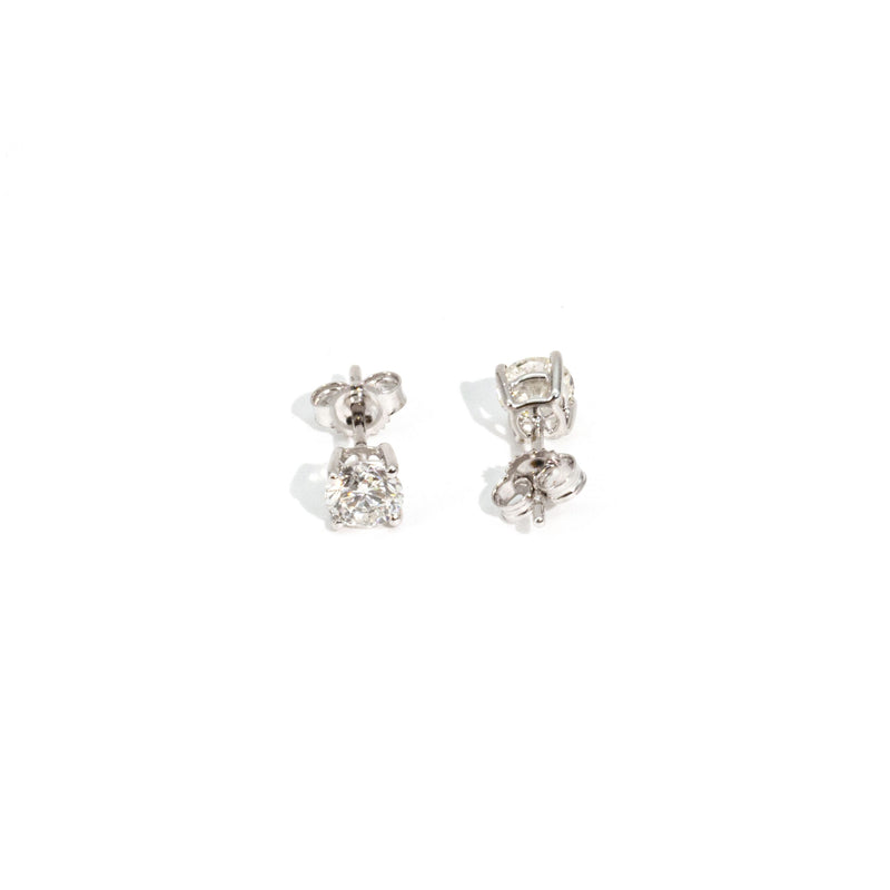 Felicia 1ct Diamond Earrings Earrings Imperial Jewellery - Auctions, Antique, Vintage & Estate