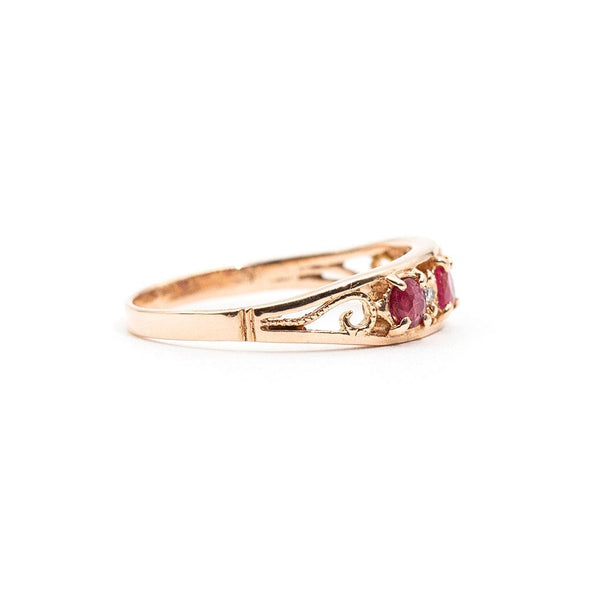 Vintage Ruby Ring with Diamonds