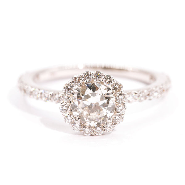 halo-vintage-diamond-engagement-ring-philamina-ij-0121-418 Rings Imperial Jewellery - Auctions, Antique, Vintage & Estate