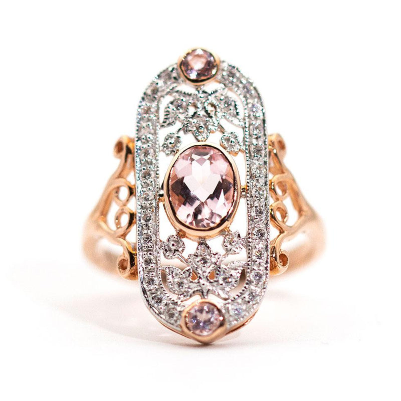 Holly Morganite and Diamond Ring Rings Imperial Jewellery - Auctions, Antique, Vintage & Estate
