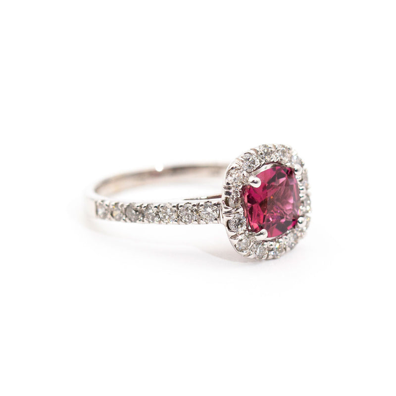 Izabella Tourmaline & Diamond Ring Rings Imperial Jewellery - Auctions, Antique, Vintage & Estate
