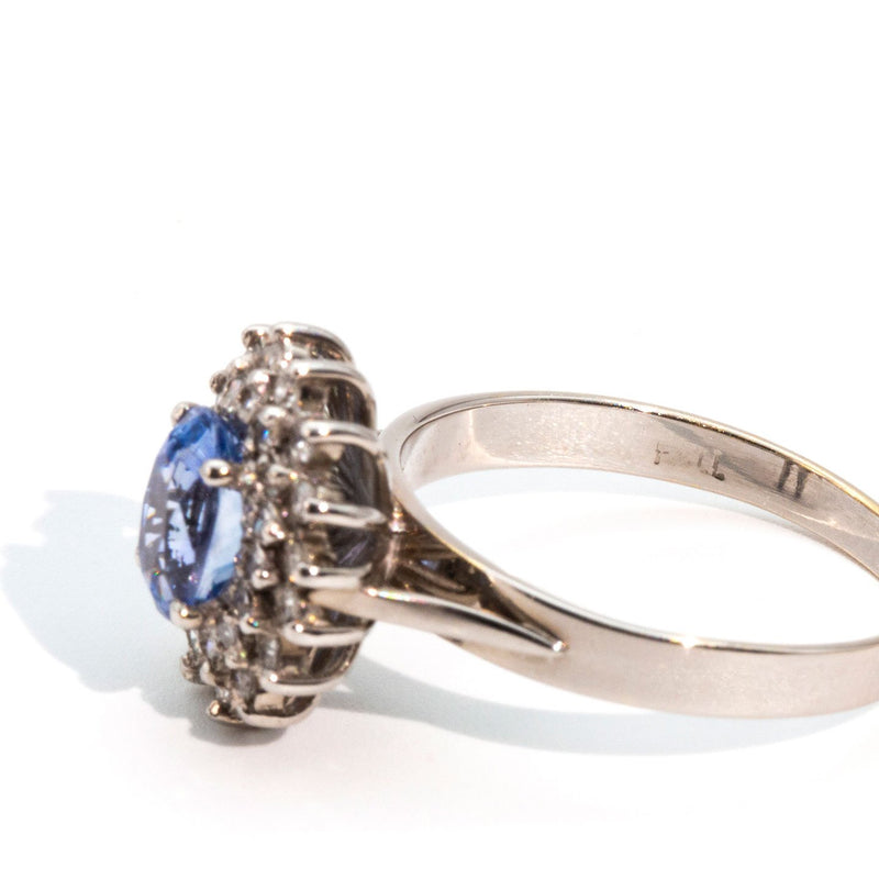 Journee Sapphire & Diamond Cluster Ring Ring Imperial Jewellery - Auctions, Antique, Vintage & Estate