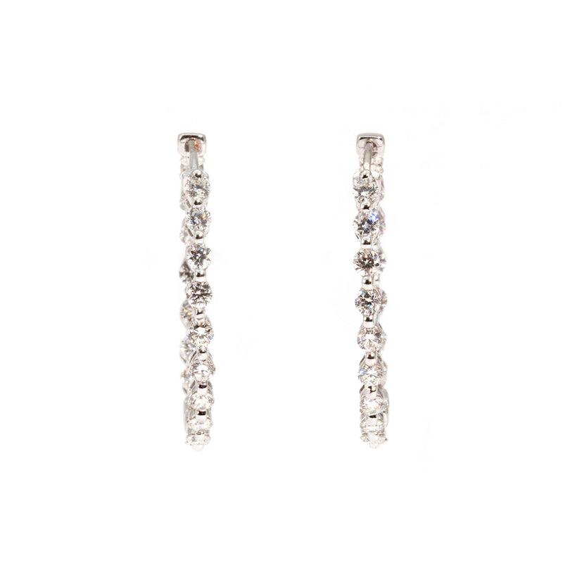 Justina Diamond Earrings Earrings Imperial Jewellery - Auctions, Antique, Vintage & Estate